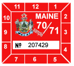 1970-71 Maine INSPECTION sticker