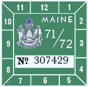 1971-72 Maine Inspection Sticker