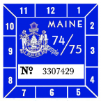 1974-75 Maine Inspection Sticker