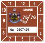 1975-76 Maine Inspection Sticker