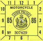 1985-86 Maine Inspection Sticker