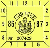 1986-87 Maine inspection sticker