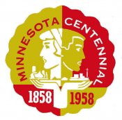 1958 Minnesota Centenial sticker