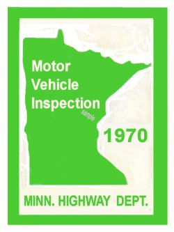1970 Minnesota INSPECTION Sticker
