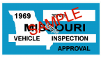1969 Missouri INSPECTION Sticker