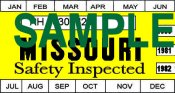 1980-82 Missouri inspection sticker