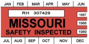 1987-89 Missouri Inspection sticker