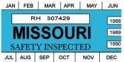 1988-90 Missouri inspection sticker