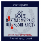 Monterey 2008 35th Rolex Historic Auto Race Sticker