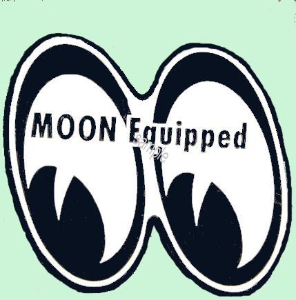 MOON EQUIPPED Sticker mini set of two - Click Image to Close