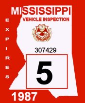 1987 Missississippi inspection
