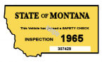 1965 Montana Safety Inspection Sticker