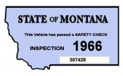 1966 Montana Safety Inspection Sticker