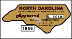 1956 NC Inspection sticker (Estimate)