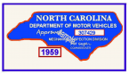 1959 NC Inspection sticker (estimate)
