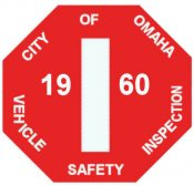1960 Nebraska Inspection sticker (OMAHA)