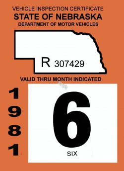 1981 Nebraska Inspection sticker