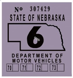 1969-1973 Nebraska Inspection Sticker