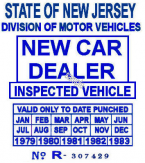 1979 - 1983 NJ NEW CAR DEALER STICKER