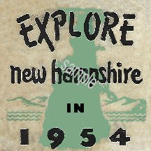 1954 New Hampshire Inspection Sticker