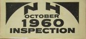 1960 New Hampshire Inspection Sticker
