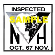 1967 New Hampshire OCT-NOV Inspection Sticker
