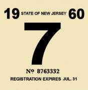 1960-61 NJ COMMERCIAL Inspection Sticker