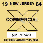 1964 New Jersey Inspection Sticker TRUCK
