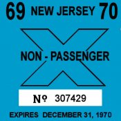 1969-70 New Jersey inspection sticker TRUCK