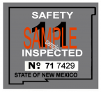 1971 New Mexico INSPECTION Sticker