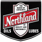 Iowa Northland Oil sticker 1950s