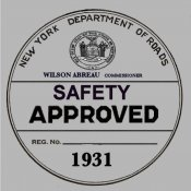 1931 New York Safety Sticker