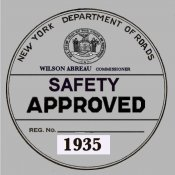 1935 New York Safety Sticker