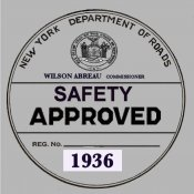 1936 New York Safety Sticker