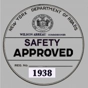 1938 New York Safety Sticker