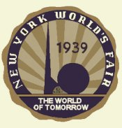 1939 New York Worlds Fair Sticker