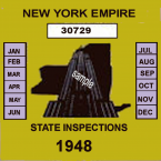 1948 New York Safety Check Inspection Sticker