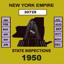 1950 New York Safety Check Inspection sticker