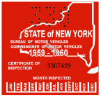 1959-60 New York Inspection Sticker