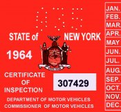 New York Bob Hoyts Classic Inspection Stickers Add A Final Touch