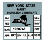 1970-71 New York INSPECTION Sticker