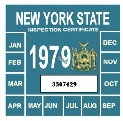 1979 New York INSPECTION Sticker