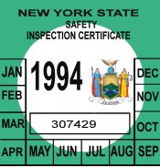1994 NY inspection sticker