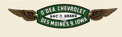 Iowa O'dea motor Dealer Sticker