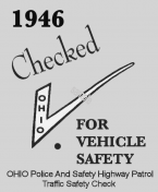 1946 Ohio INSPECTION Sticker