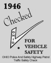 1946 Ohio Safety check sticker