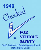 1949 Ohio Safety Inspection sticker