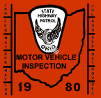 1980 Ohio INSPECTION Sticker