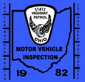 1982 Ohio INSPECTION Sticker