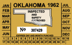 1962 Oklahoma inspection sticker